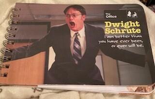 """""""Dwight Schrute"""" wisdom book"""
