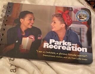 """Parks and recreation"" wisdom book"