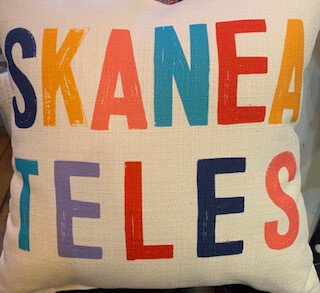 Multi square Skaneateles pillow