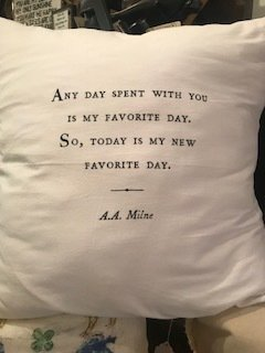 """""""any day spent with you..."""" pillow"""