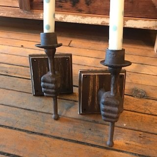hand candle sticks/set of two