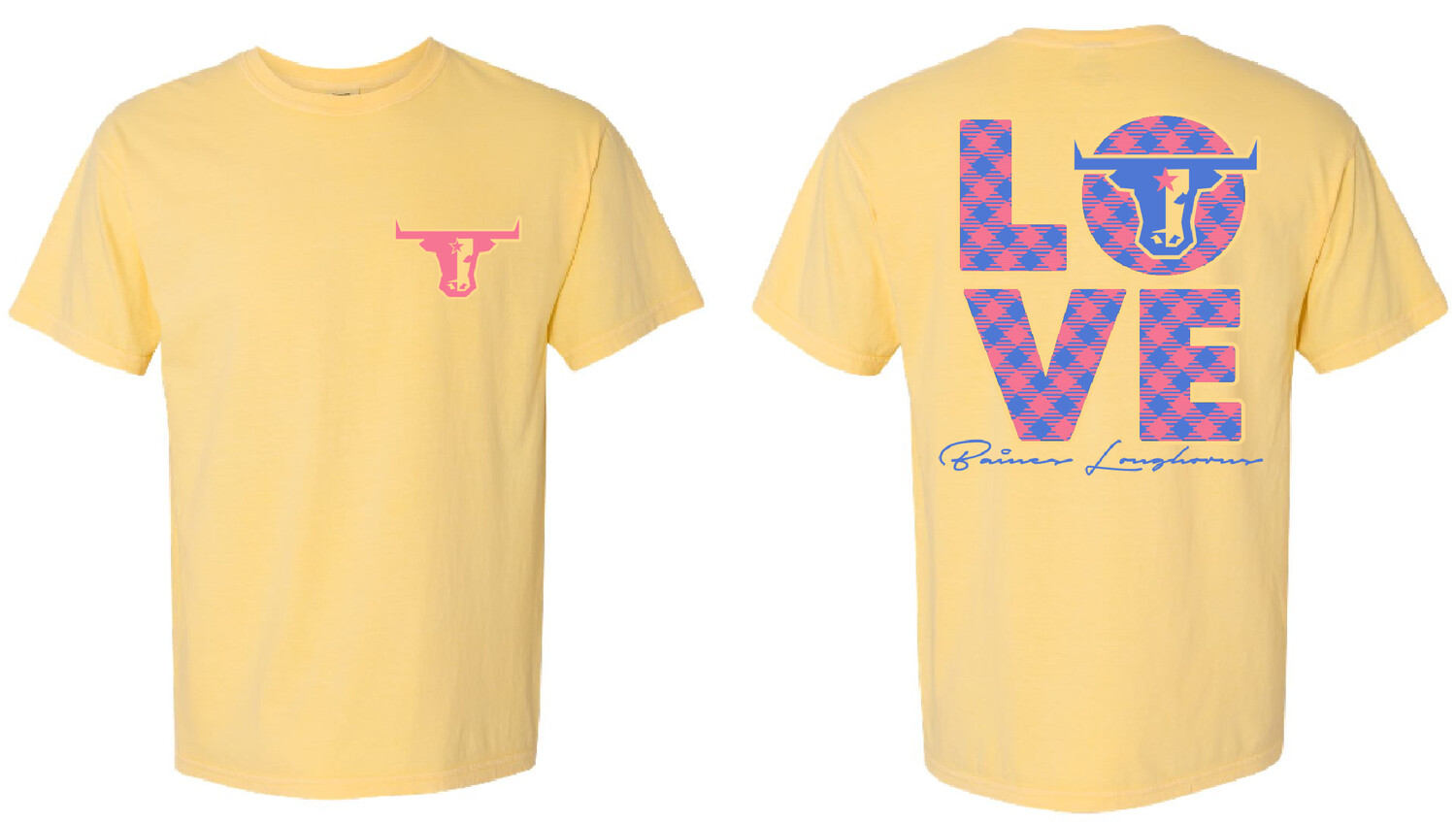 Butter Yellow 'Love' Comfort Colors