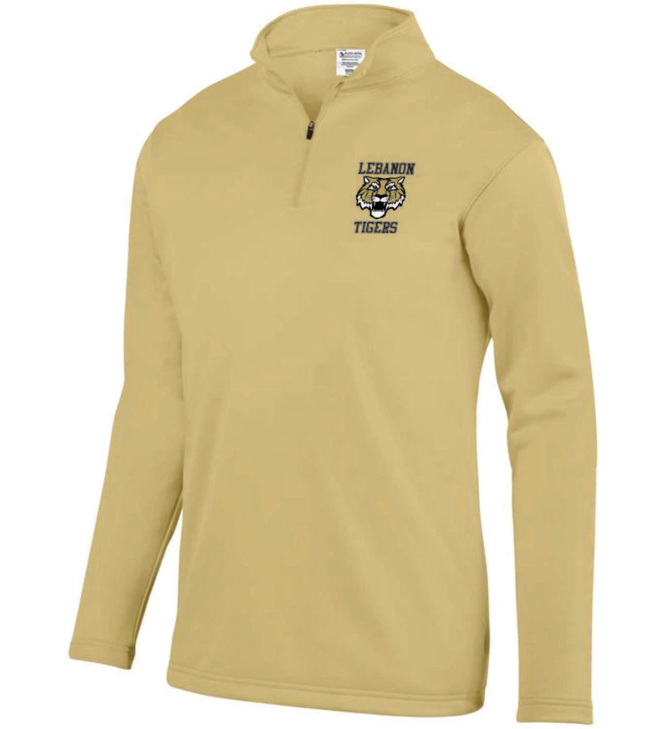 Ladies And Unisex Vegas Gold 1/4 Zip Embroidered Sweater