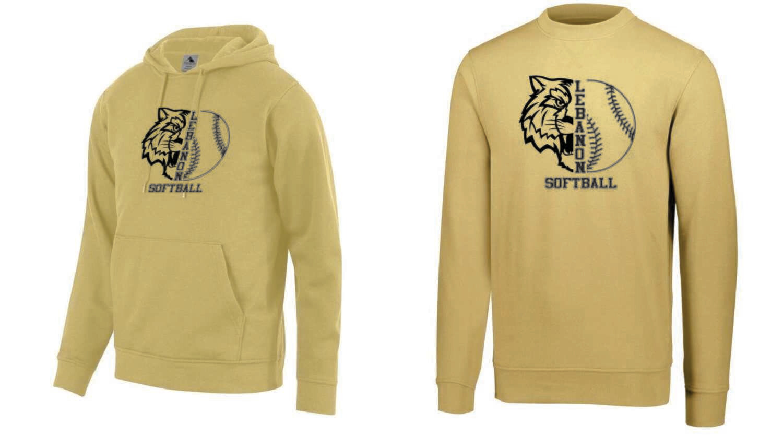 Lebanon Softball Vegas Gold Sweaters