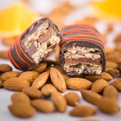 Barra Almendra Naranja Chocolate