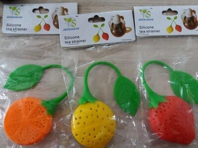 Infusor Silicona forma Frutilla, Naranja y Limón