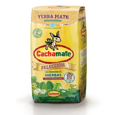 Yerba Mate Mezcla de Hierbas Amarilla Cachamate