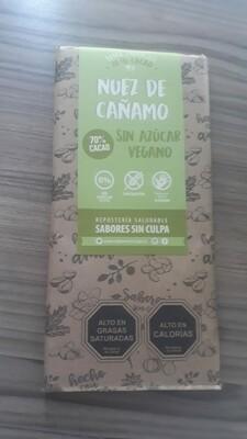 Chocolate Barra Cáñamo Nuez Sin Azúcar