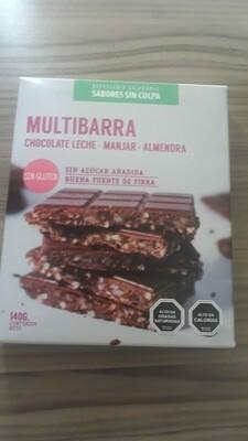 Multibarra Choco Leche Almendra
