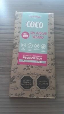 Chocolate Barra Coco Sin Azúcar