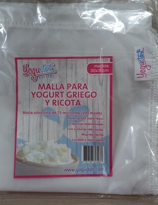Malla Yogurt Griego 75 micrones