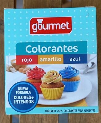 Colorantes Rojo Amarillo Azul