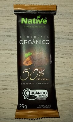 Barra de Chocolate 50% Orgánico
