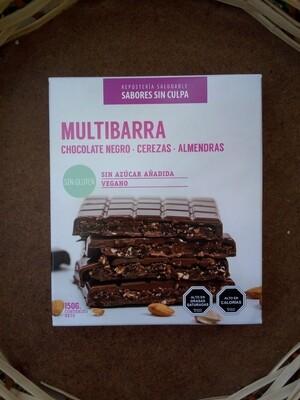 Multibarra Chocolate Negro Cereza Almendra