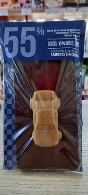 Barra 55% Cacao Avellana Vegano