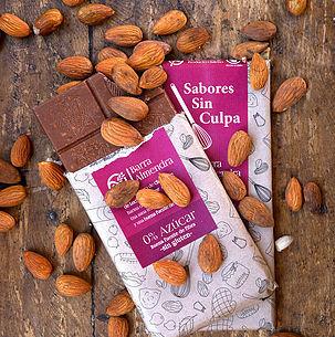 Chocolate Barra Almendra Sin Azúcar 80 grs.