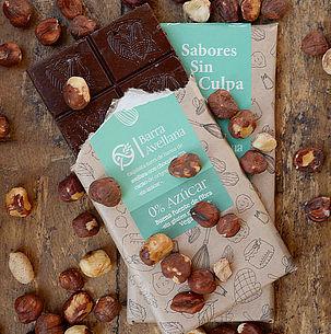 Chocolate Barra Avellana Sin Azúcar 80 grs.