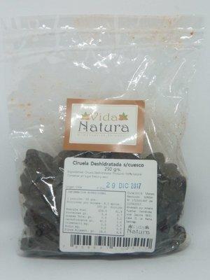 Ciruela Deshidratada s/cuesco 250 grs.