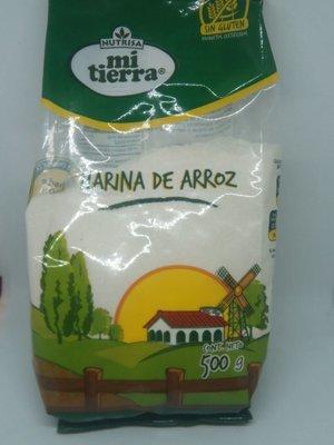 Harina de Arroz s/gluten Mi Tierra 500 grs.