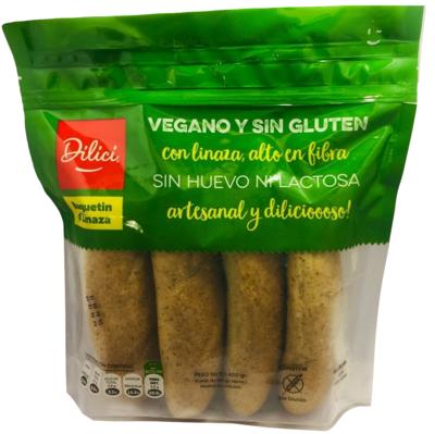 Pan Baguetin D´Linaza S/Gluten 4 Und.