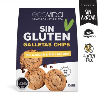 Galletas con Chip de Chocolate Sin Gluten  150 grs.