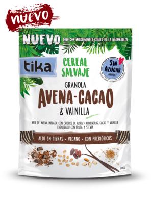 Tika Cereal Salvaje Avena - Cacao  200 grs.