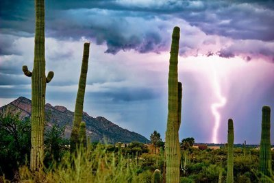 Tucson, AZ Monsoon Lightning Storm - Digital Download