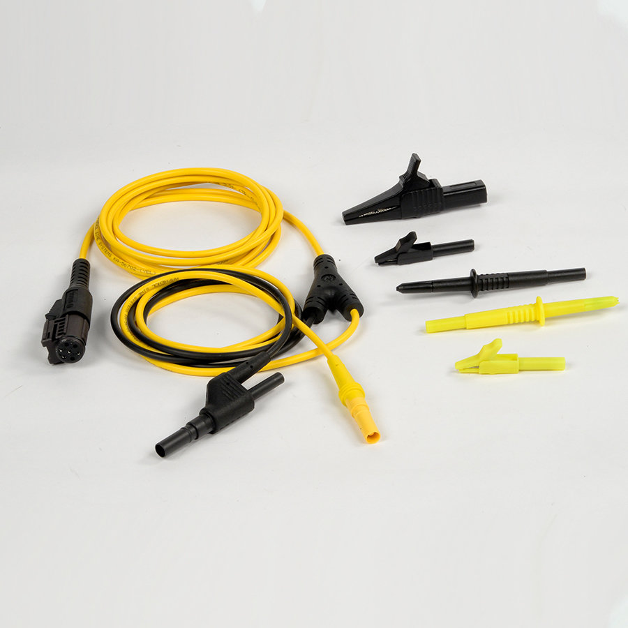 VCMM Yellow Test Probe Lead, Black Probe, and 3 Alligator Clips