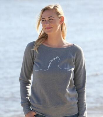 Respect the Locals- gray sweatshirt