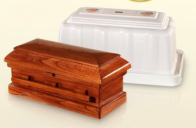 Wood Baby Casket and Vault 3 Piece Combo (20 inch interior) C-20-3combo
