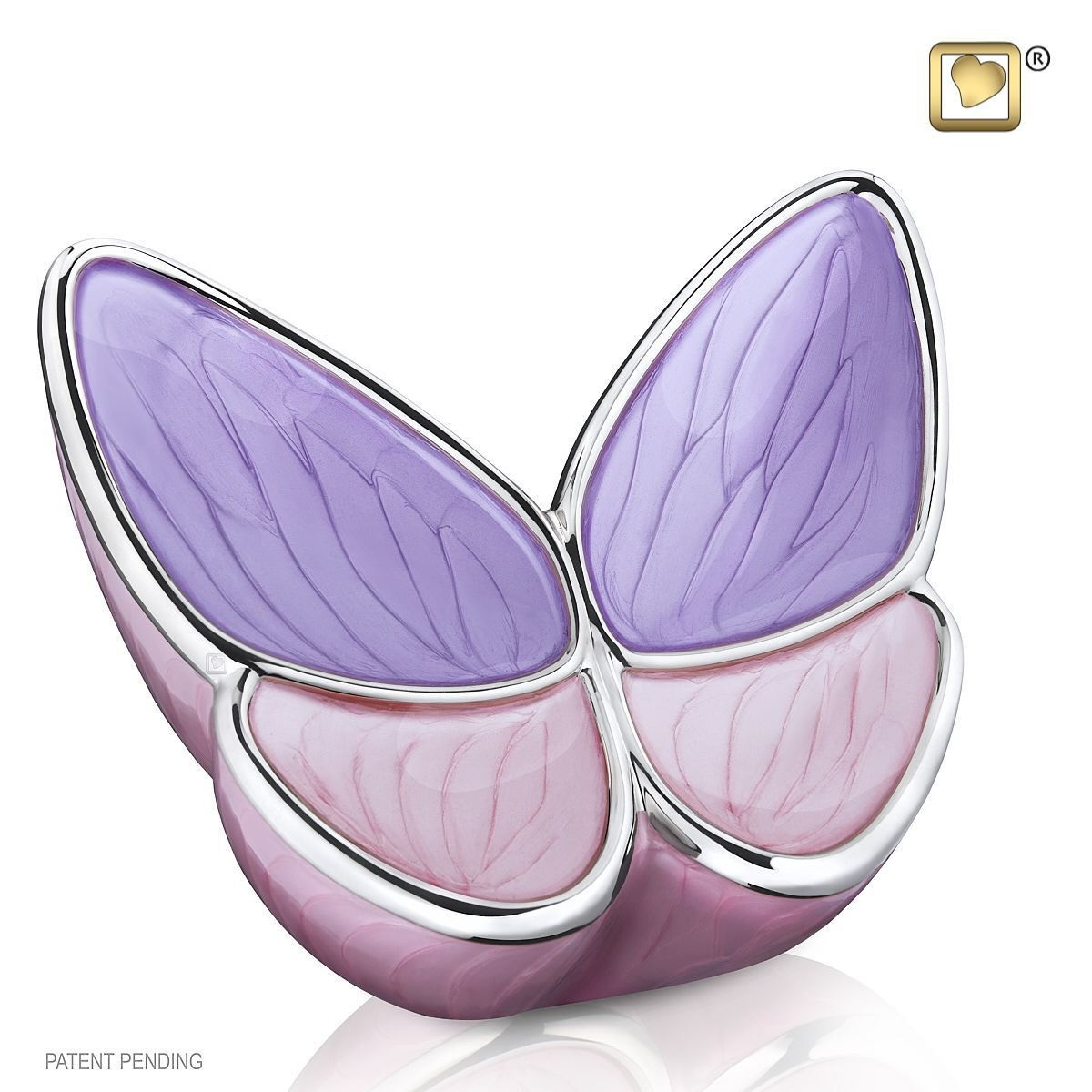Butterfly Baby Urn in Purple and Pink (Wings of Hope-3 cubic inches)
