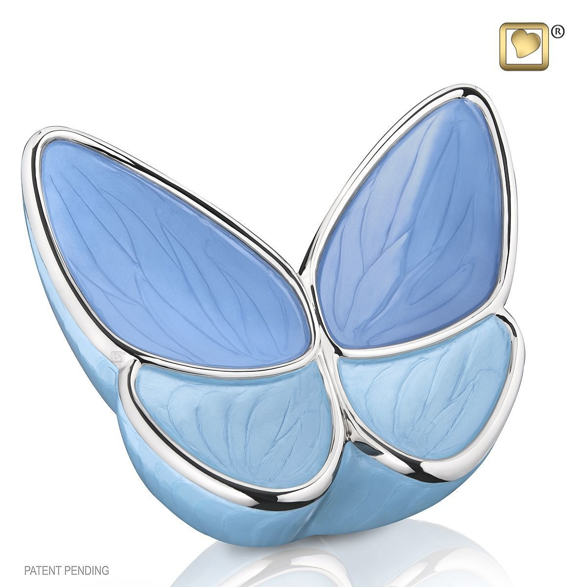 Butterfly Baby Urn in Blue - Medium (Wings of Hope)   22 cubic inches