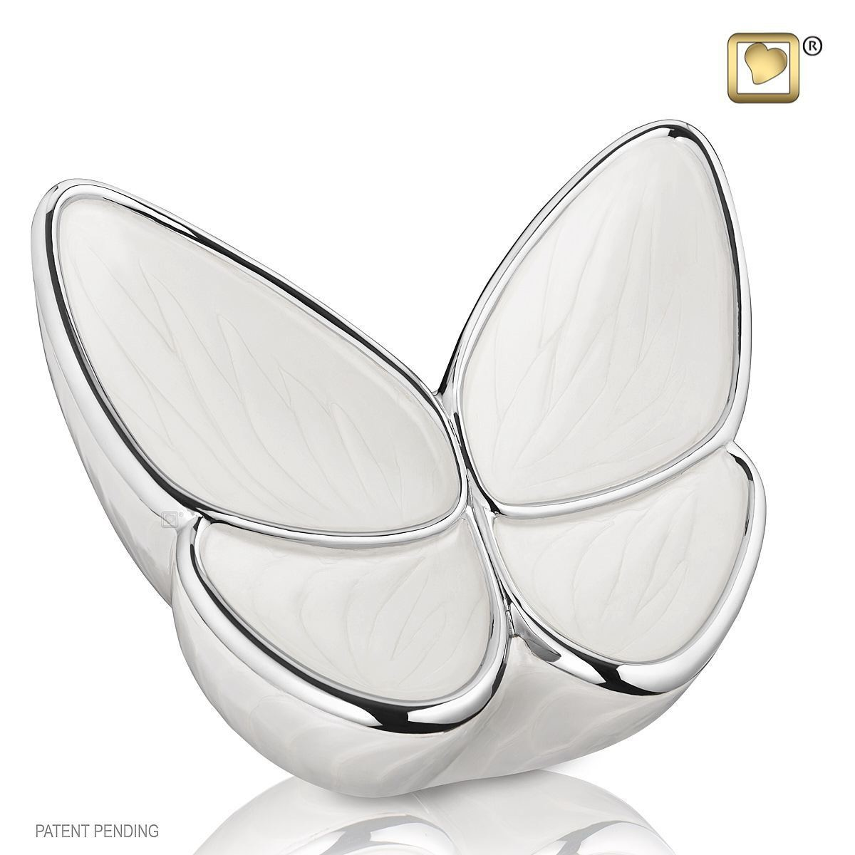 Butterfly Baby Urn in White - Small (Wings of Hope-3 cubic inches)