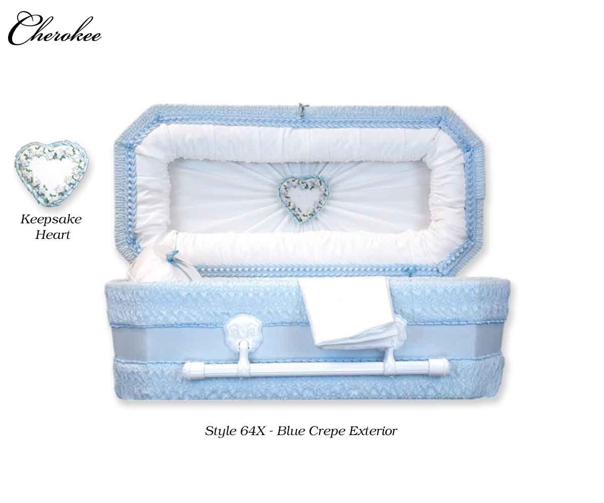 Cloth Covered Heart Keepsake Baby Casket (21 or  24 Inch Interior)     C-21-24-Cloth-K