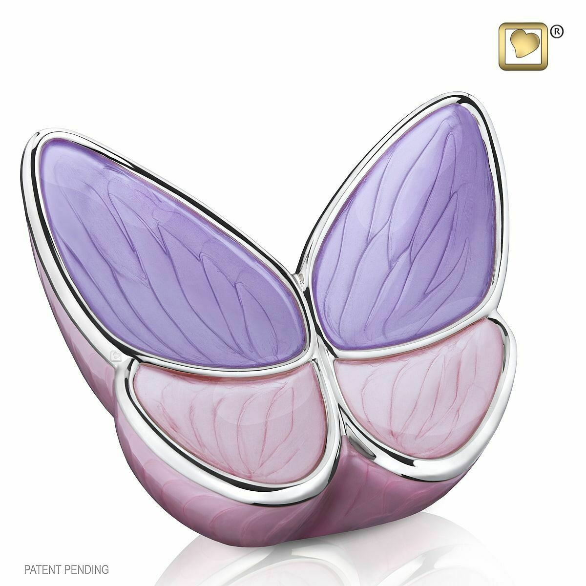 Butterfly Baby Urn in Pink and Purple - Medium (Wings of Hope-22 cubic inches)