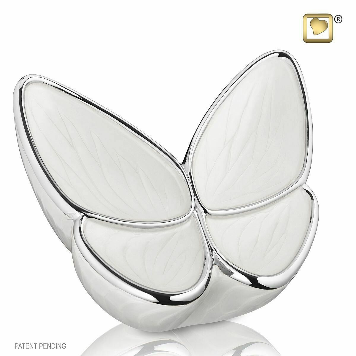 Butterfly Baby Urn in White - Medium (Wings of Hope-22 cubic inches)