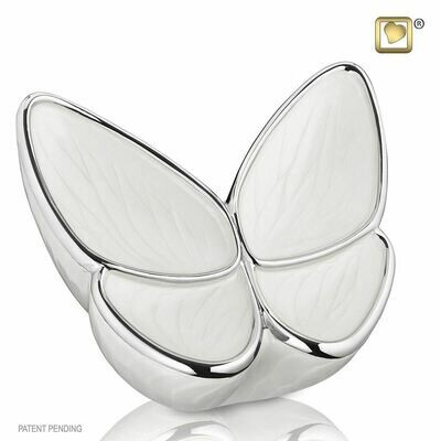 Butterfly Baby Urn in White  (Wings of Hope-22 cubic inches)