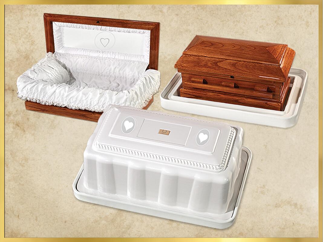 Wood Baby Casket and Vault 3 Piece Combo (27 inch interior) C-27-3combo