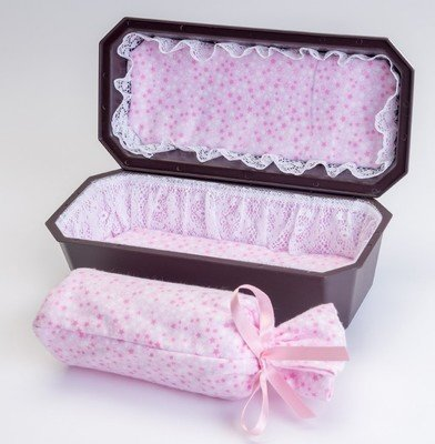 Baby Burial Urn/Vault Combo with Pink Interior (9 inch interior)   U-9-2P