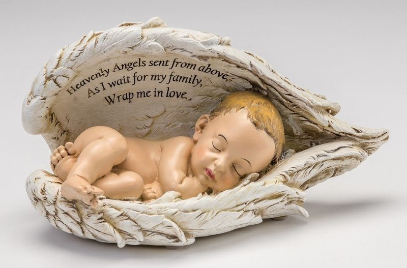 Baby in Wings Statue (light skin tone)  M-BIW-WH