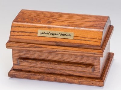 Oak Miscarriage Casket (9 inch interior)     C-9-Oak