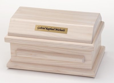 White Ash Miscarriage Casket (9 inch interior)     C-9-WA