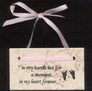 In My Heart Forever Plaque (footprint)     M-IMH-Foot