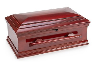 Classic Wood Baby Casket with Slide Lock (32 inch interior) C-32-SO