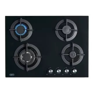 Defy gas 4 plate glass hob dhg 130