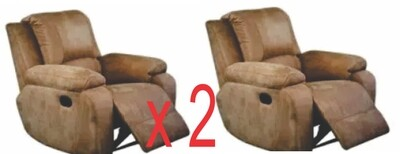 2 Suede Micro Fabric Recliner