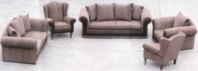 Tuscanny 3pice lounge suite with 2 wingbacks