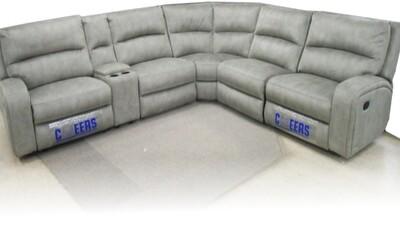 2 Recliners 100% genuine leather upper corner suite