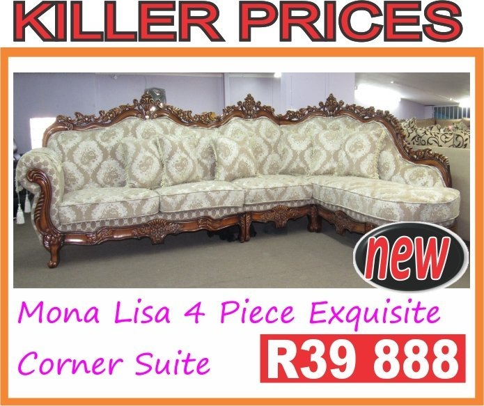 Mona Lisa 4 Piece Exquisite  Corner Suite with Trade-Inn