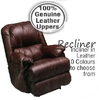 Recliner 100%  Genuine Leather Uppers R6988